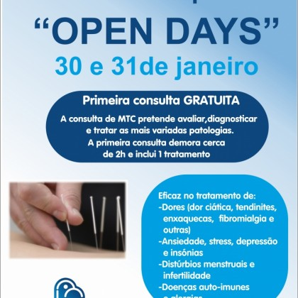 OPEN DAYS - Medicina Chinesa e Acupuntura